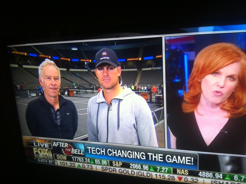 John McEnroe, Andy Roddick and the PowerShares Series on Fox Business with Liz Claman